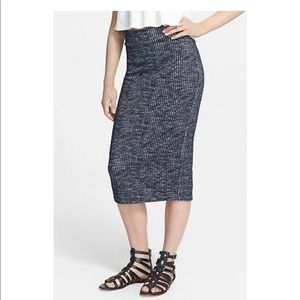 Free People Heart Breaker Knit Midi Pencil Skirt